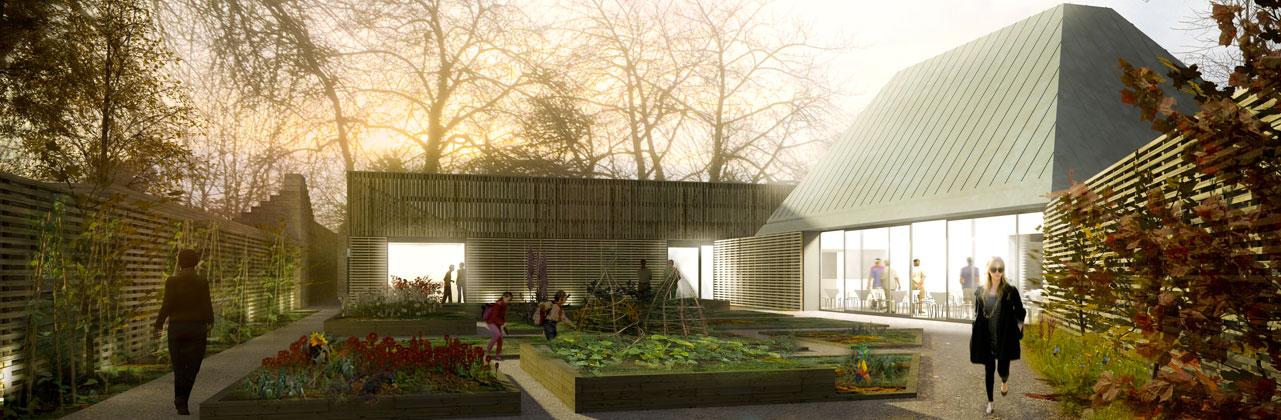 Render of proposals at Saughton Park & Gardens